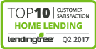Top 10 in Customer Satisfaction - Home Lending 2017