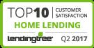 Top 10 in Customer Satisfaction - Home Lending 2017